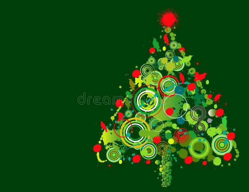 Dise o colorido del rbol de navidad ilustraci n del - Diseno de arboles de navidad ...
