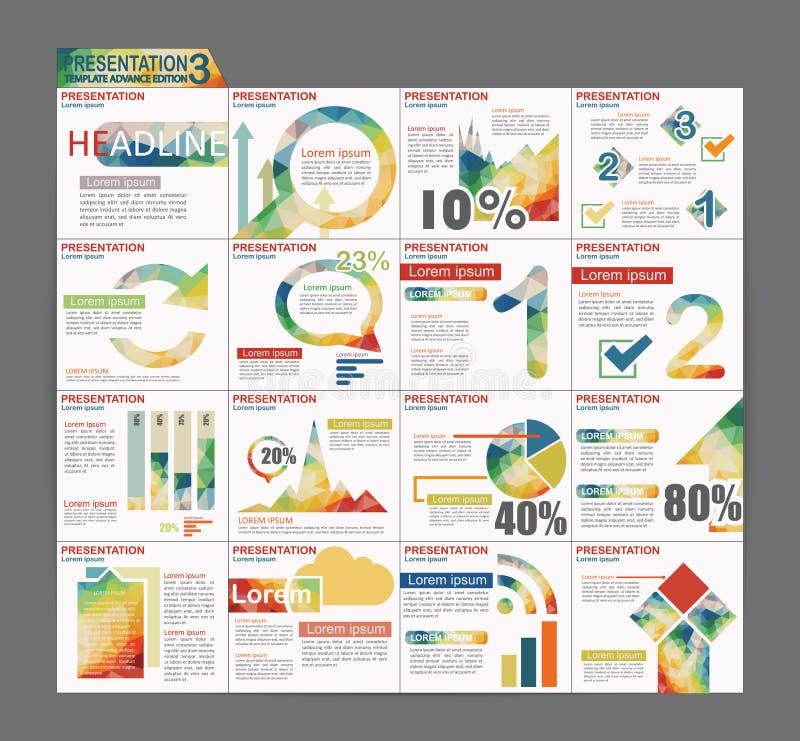 Diseño colorido del aviador del folleto de la plantilla de la presentación de Infographic stock de ilustración