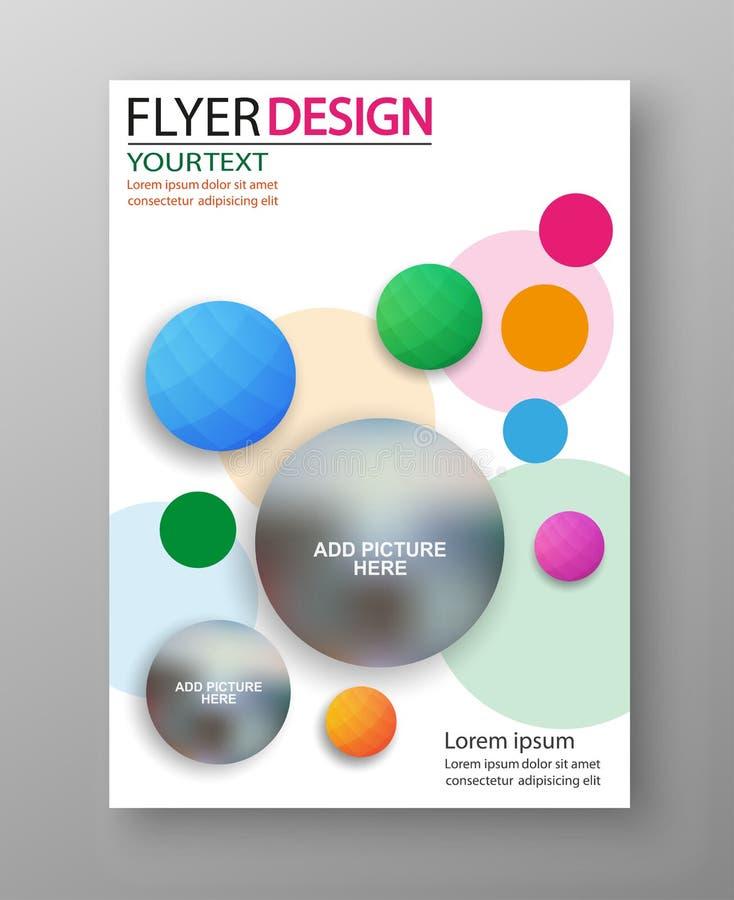 Diseño colorido del aviador o de la cubierta del negocio Para el diseño de la plantilla del arte, lista, portada, estilo del tema libre illustration