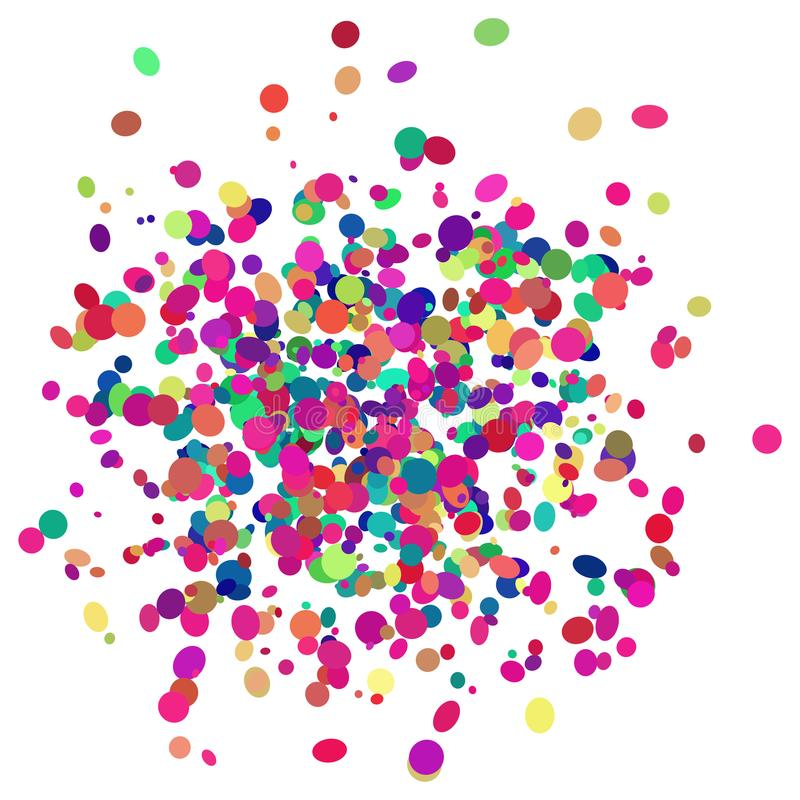 Diseño colorido del confeti con el fondo transparente ilustración del vector