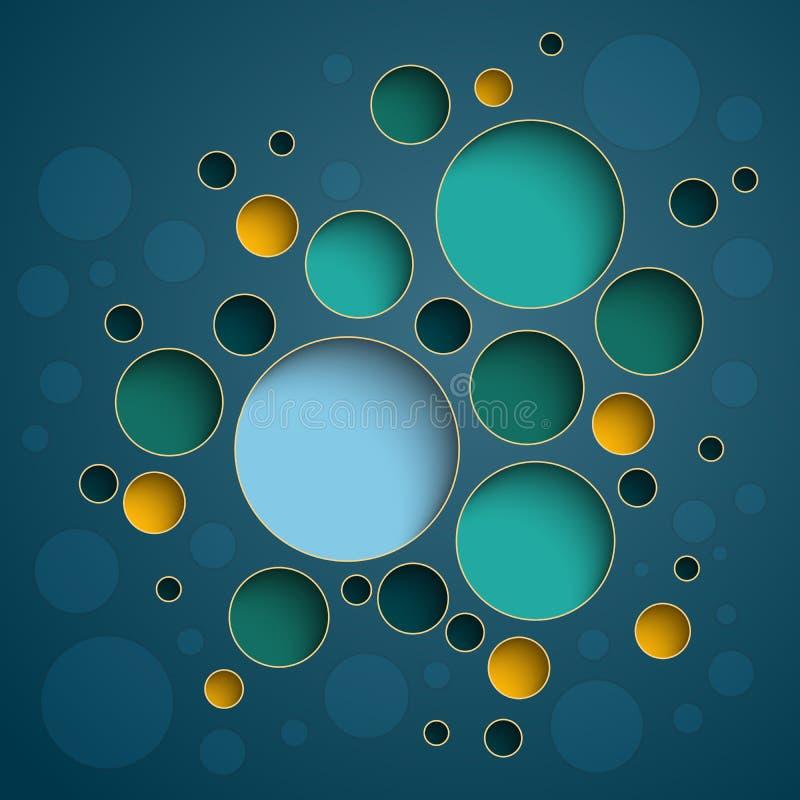 Diseño colorido del esquema de los círculos de Infographics libre illustration