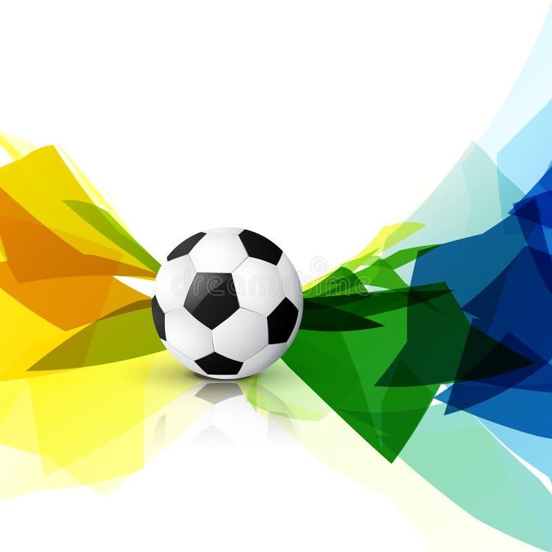 Download Diseño colorido del fútbol ilustración del vector. Ilustración de competición - 41919615