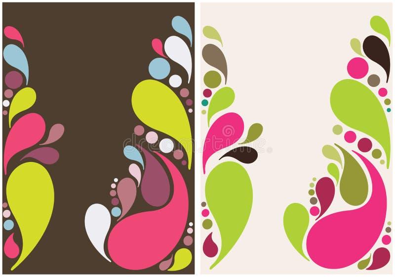 Diseño colorido del fondo de las gotas del chapoteo stock de ilustración
