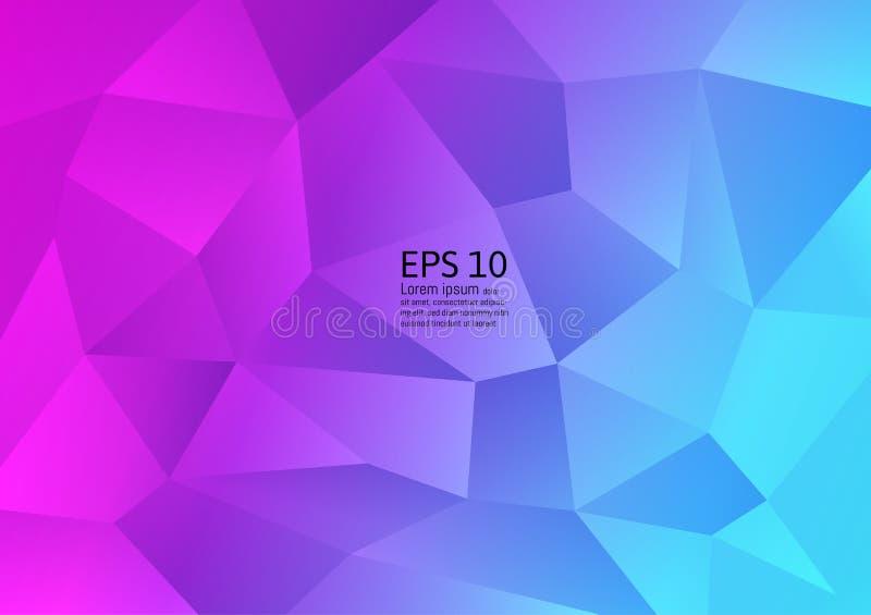 Diseño colorido del fondo del extracto del polígono La pendiente flúida forma diseño futurista de la composición Ilustración del  ilustración del vector