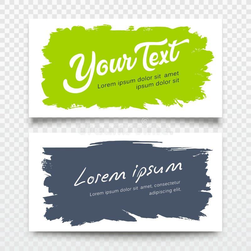 Diseño colorido del fondo del movimiento del cepillo de la tarjeta de presentación del negocio del vector ilustración del vector
