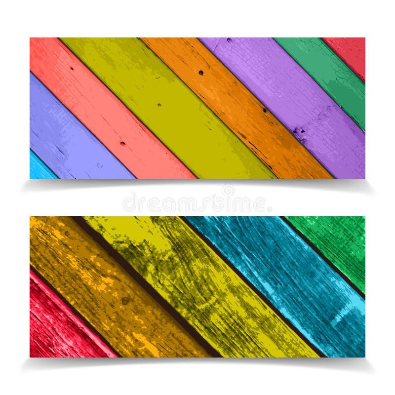 Diseño colorido del jefe con el Pla de madera abstracto libre illustration