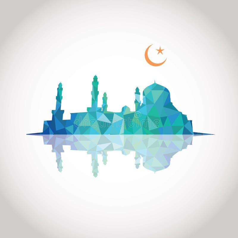 Diseño colorido del mosaico - mezquita stock de ilustración