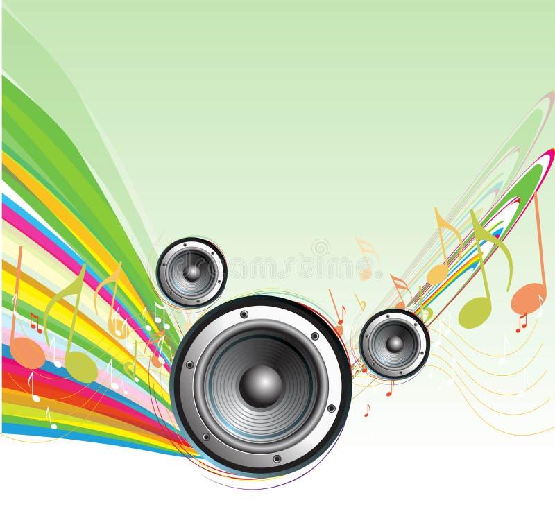 Diseño colorido del vector de la música de la onda stock de ilustración