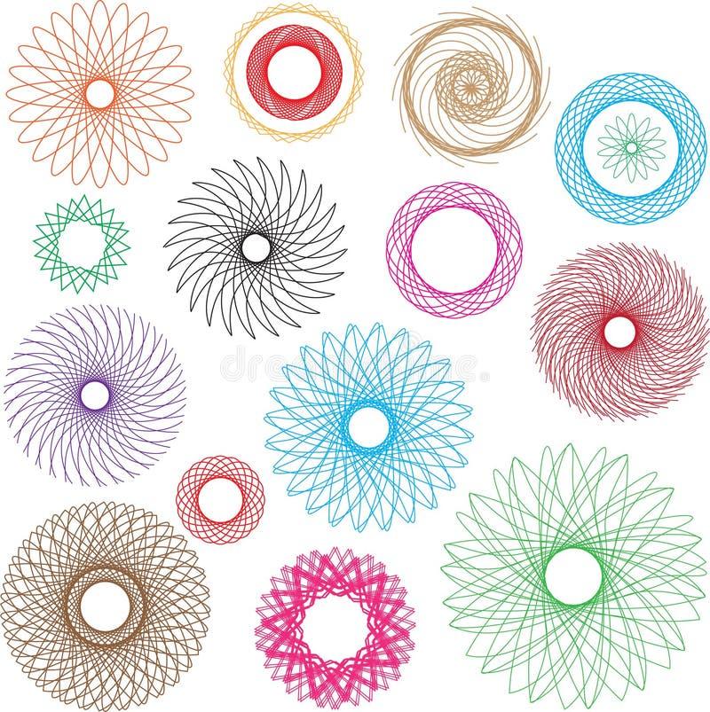 Diseño colorido del vector espiral libre illustration