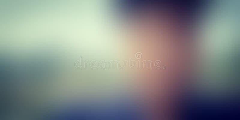 Diseño colorido del vector del fondo del extracto de la falta de definición, fondo sombreado borroso colorido, ejemplo vivo del v imagen de archivo libre de regalías
