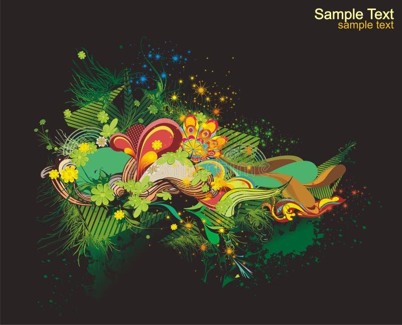 Diseño colorido fresco stock de ilustración