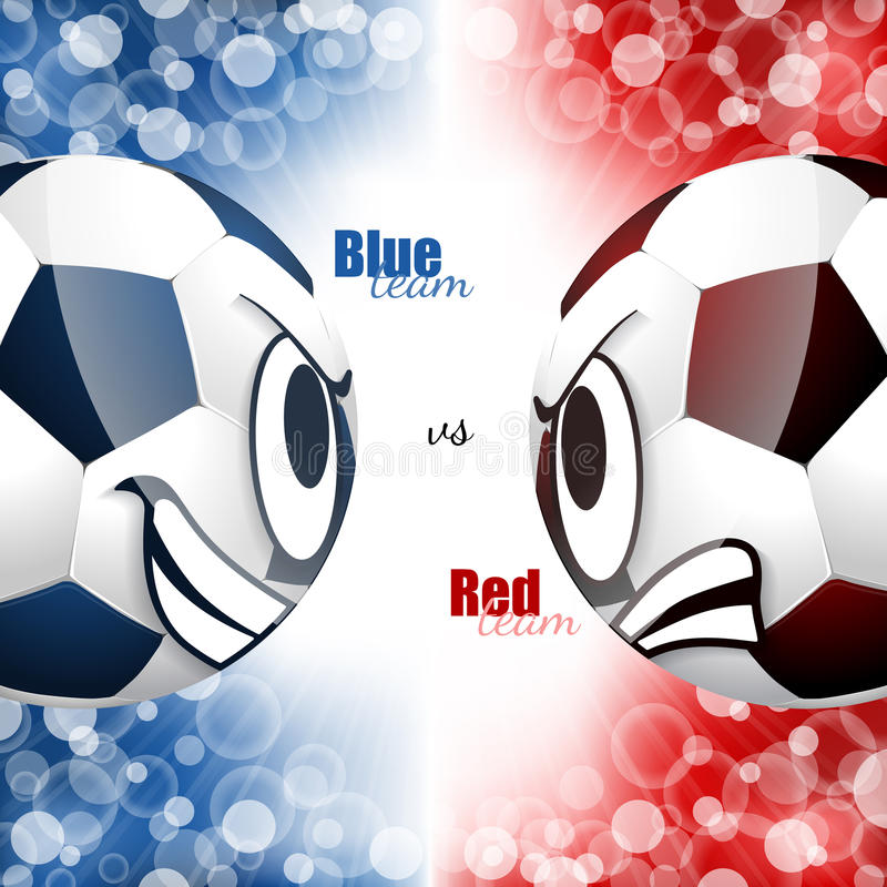 Diseño comparativo de los balones de fútbol libre illustration