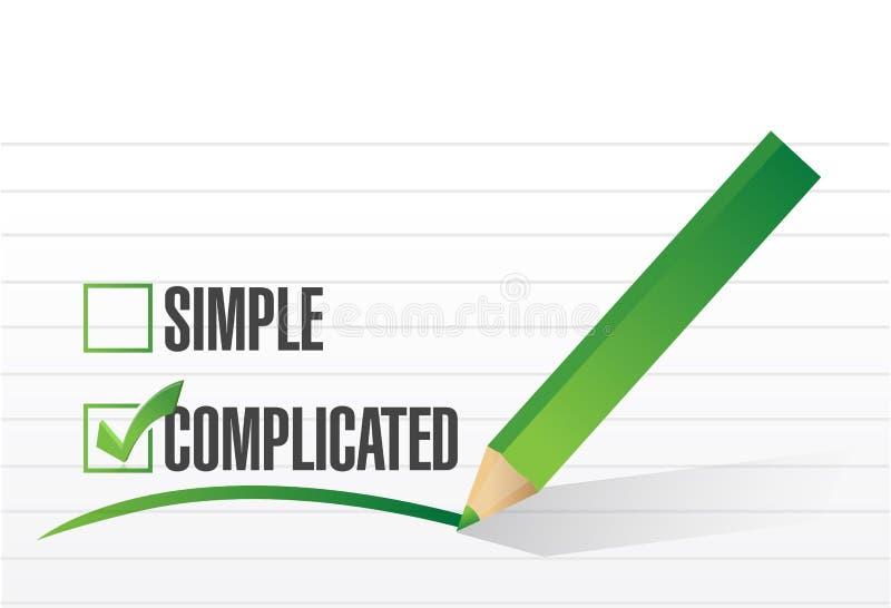 Diseño complicado del ejemplo de la selección libre illustration