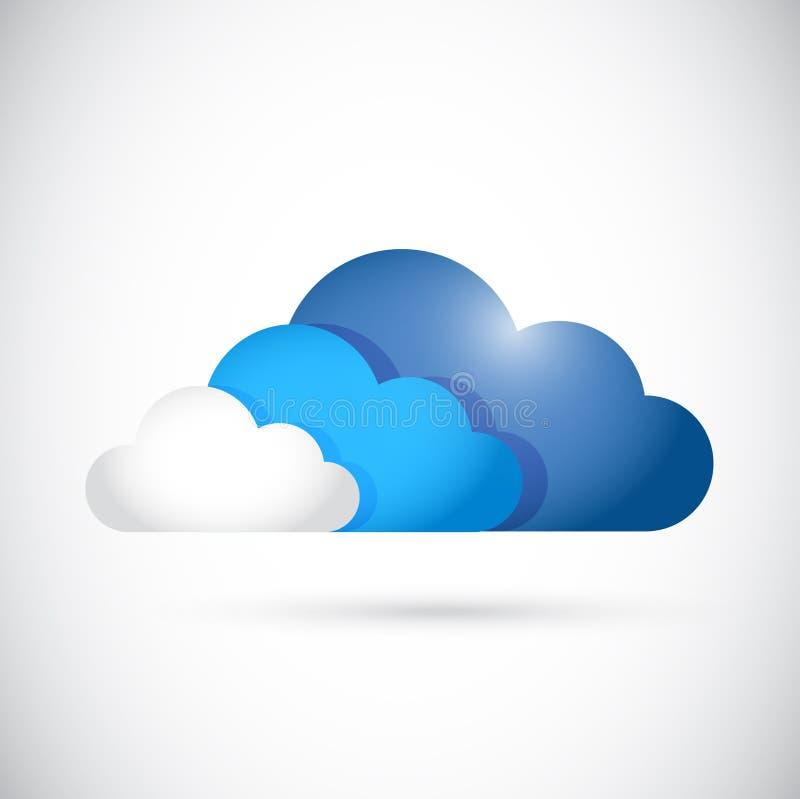 Diseño computacional del ejemplo de colores de la nube libre illustration