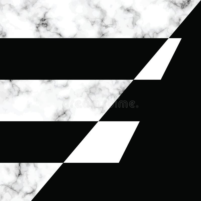 Diseño con formas geométricas, superficie que vetea blanco y negro, fondo lujoso moderno de la textura del mármol del vector libre illustration