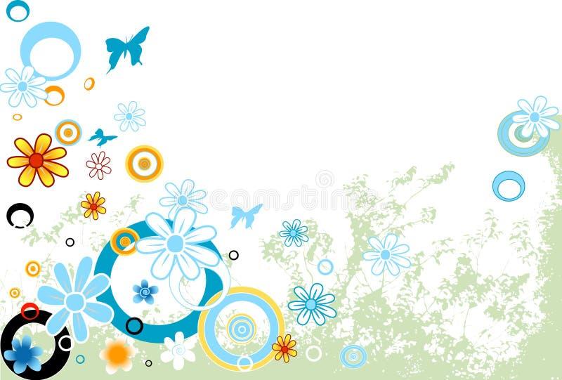Diseño con las flores libre illustration