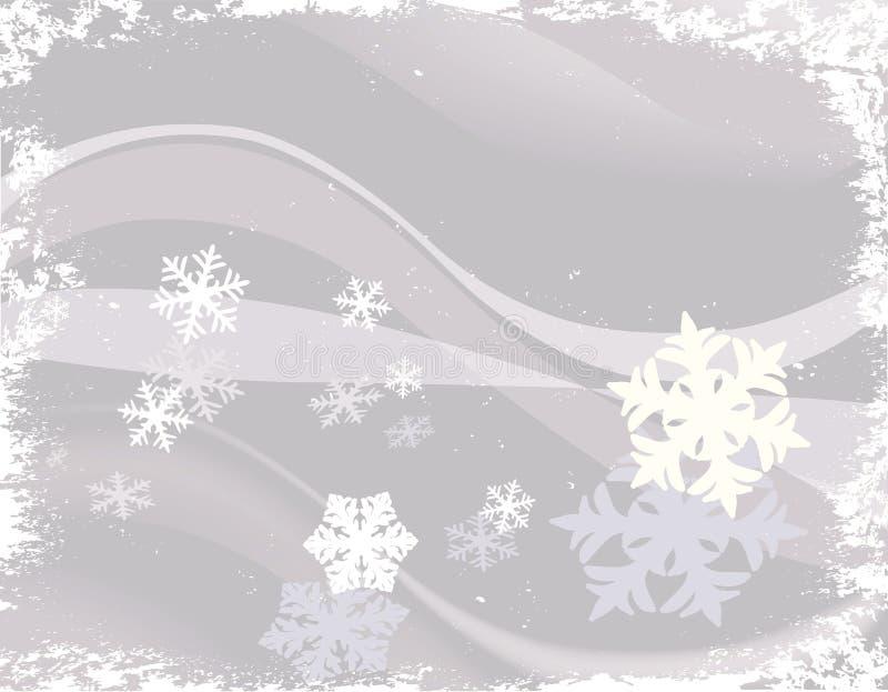 Diseño con los copos de nieve libre illustration