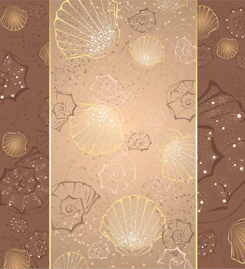 Diseño con los seashells ilustración del vector