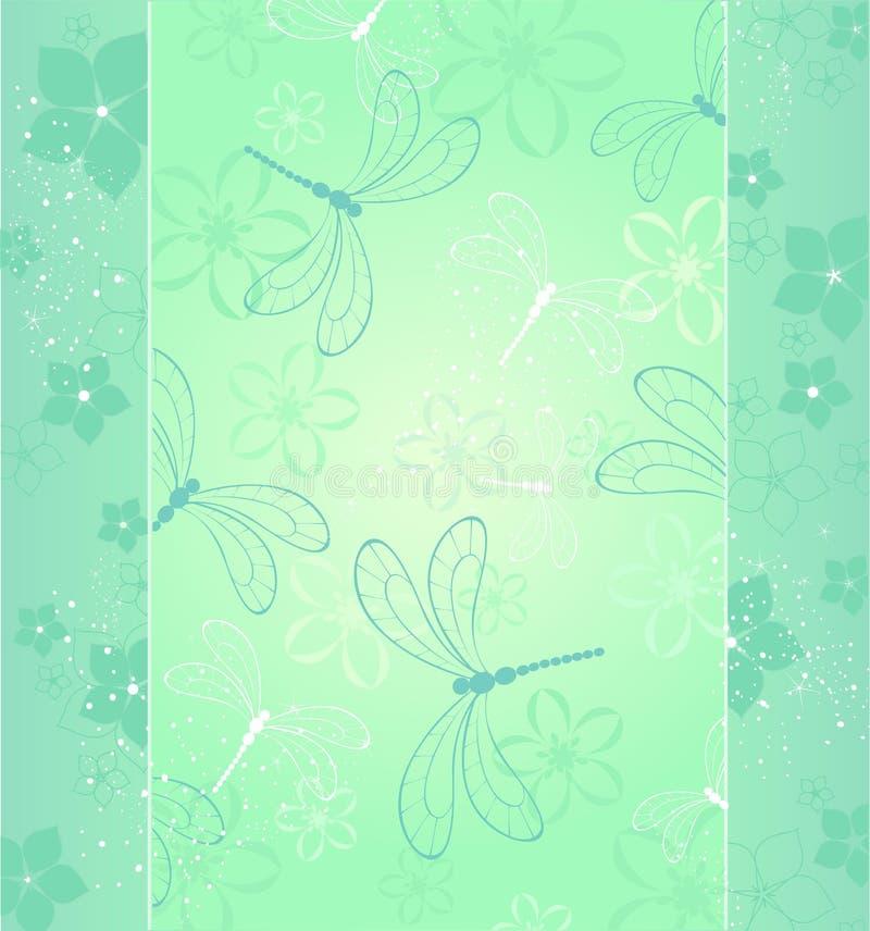 Diseño con una libélula ilustración del vector