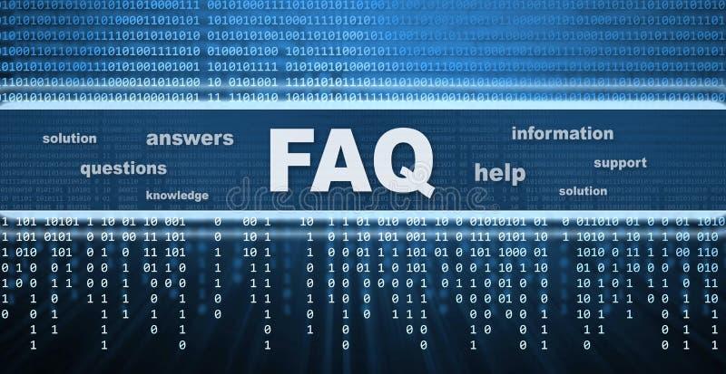 Diseño conceptual del FAQ imagen de archivo libre de regalías