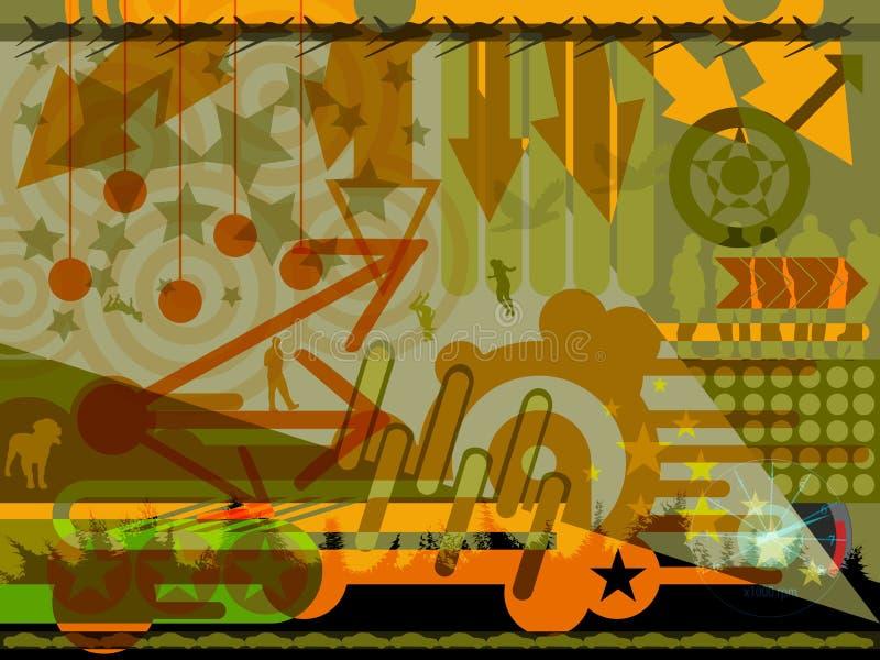 Diseño contemporáneo del fondo stock de ilustración