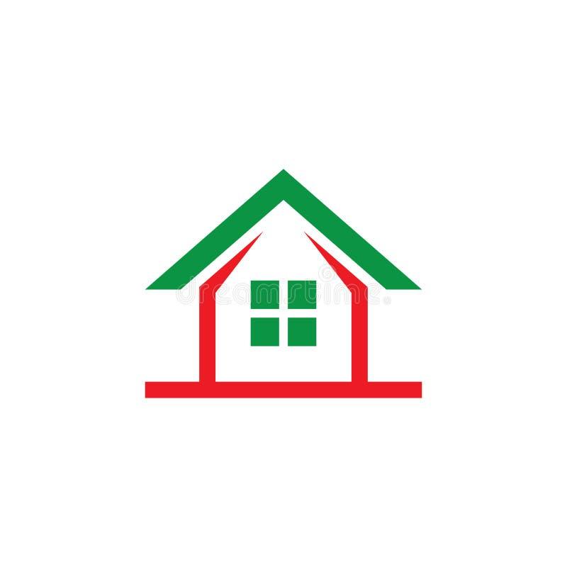 Diseño Contruction Company del logotipo de la casa stock de ilustración