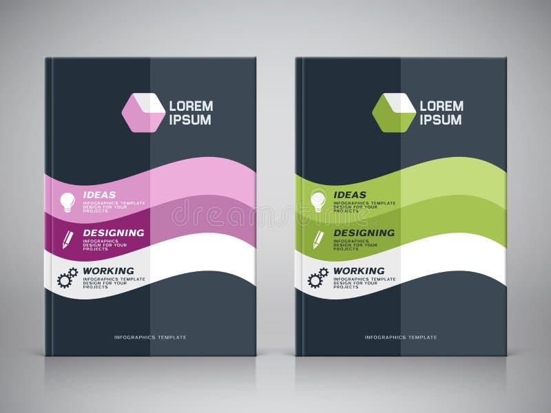 Diseño corporativo de cubierta del folleto ilustración del vector