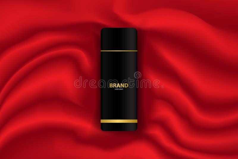 Diseño cosmético de la plantilla del fondo del vector del anuncio de la bandera de la publicidad stock de ilustración