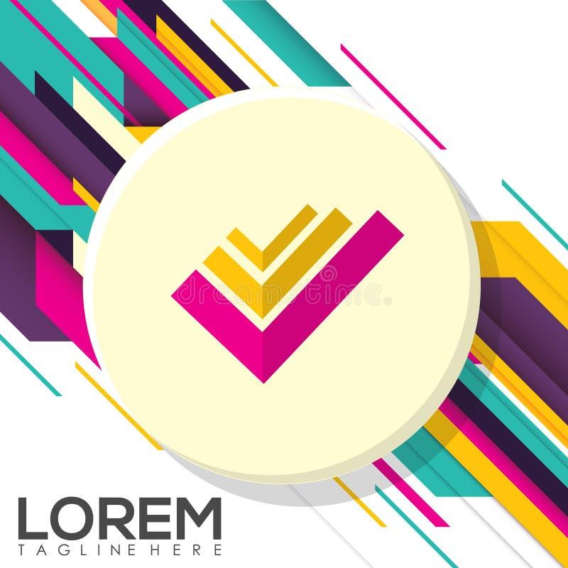 Diseño creativo colorido Logo Business Vector Illustration foto de archivo