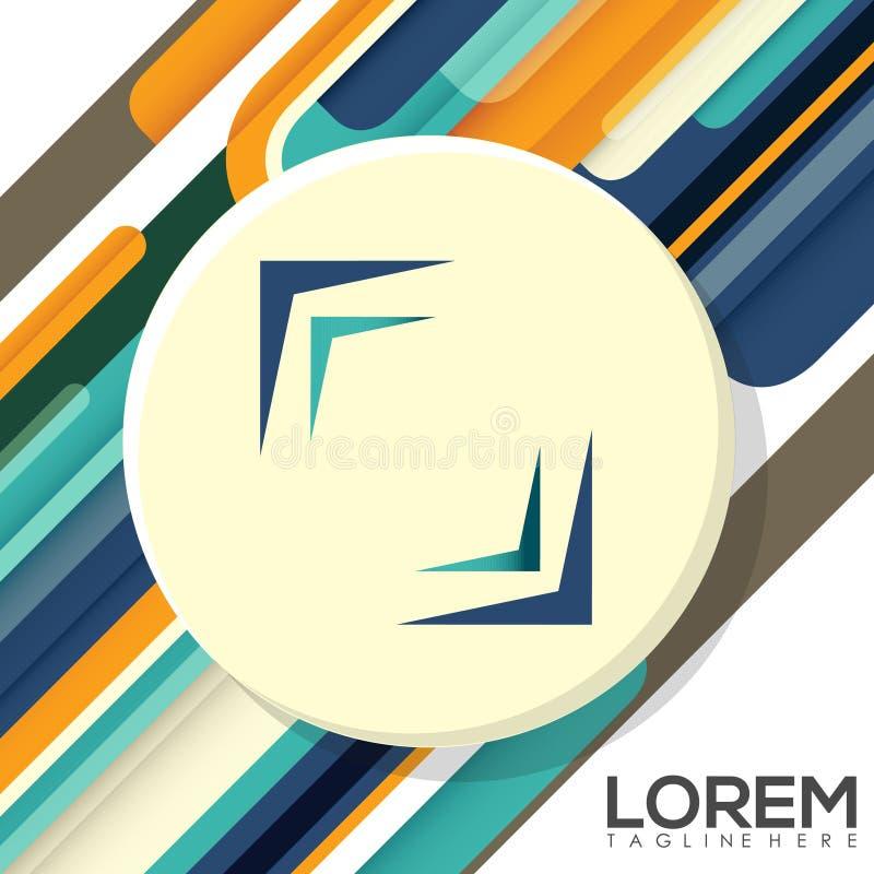 Diseño creativo colorido Logo Business Vector Illustration imagen de archivo