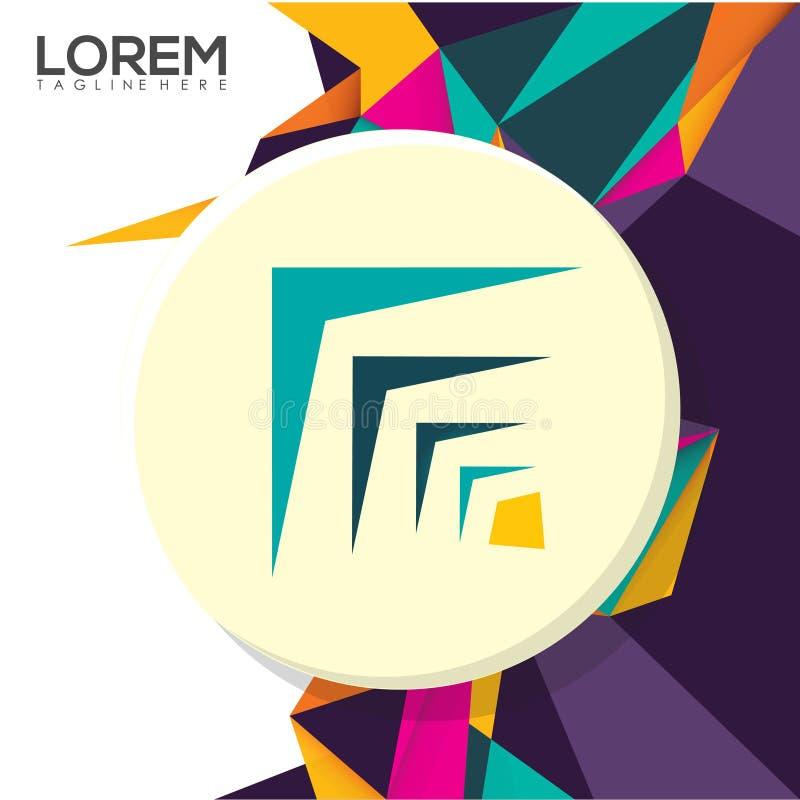 Diseño creativo colorido Logo Business Vector Illustration fotografía de archivo