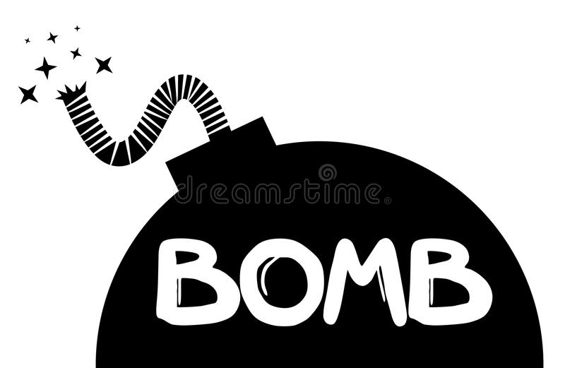 Bomba negra stock de ilustración