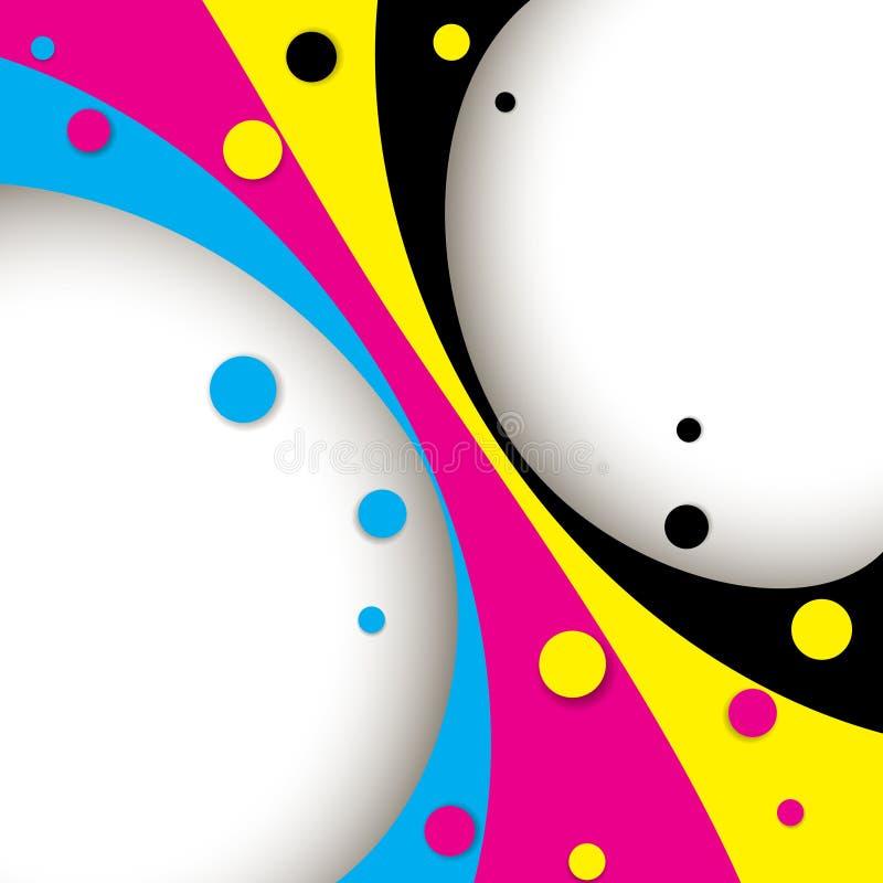 Diseño creativo de CMYK stock de ilustración