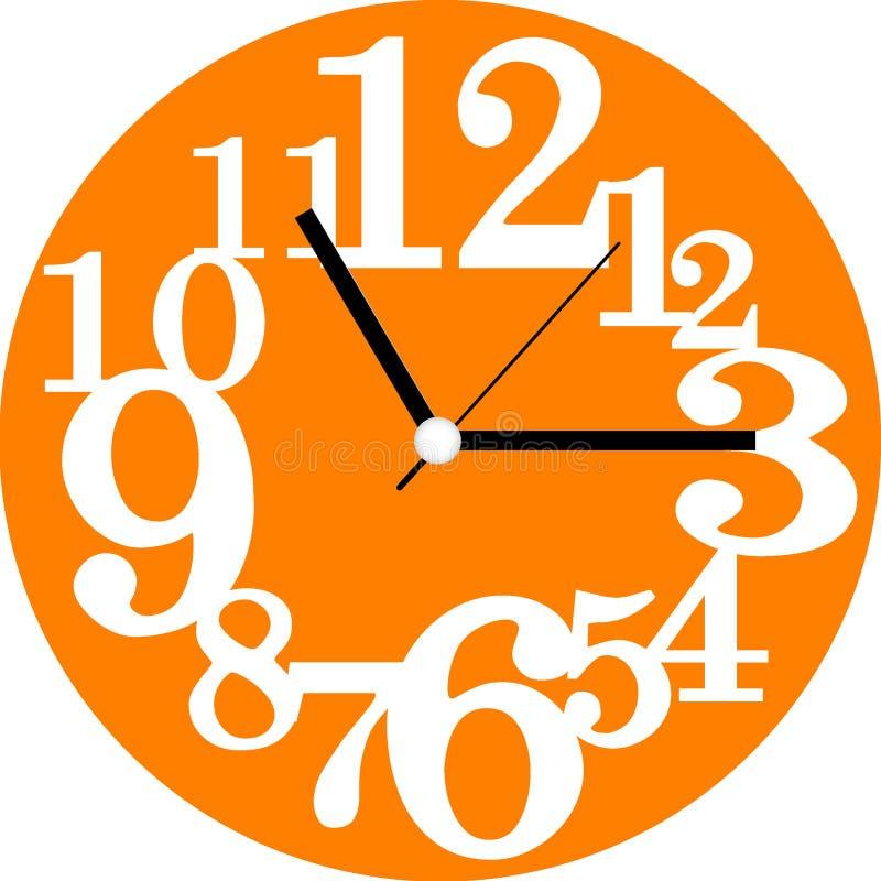 Diseño creativo de la cara de reloj imagen de archivo