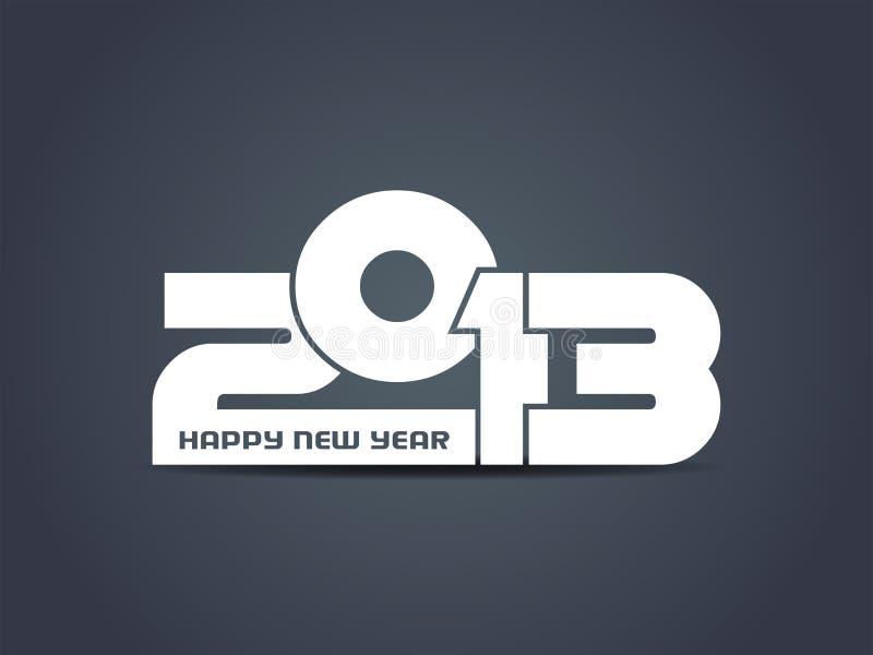 Diseño creativo de la Feliz Año Nuevo 2013. libre illustration