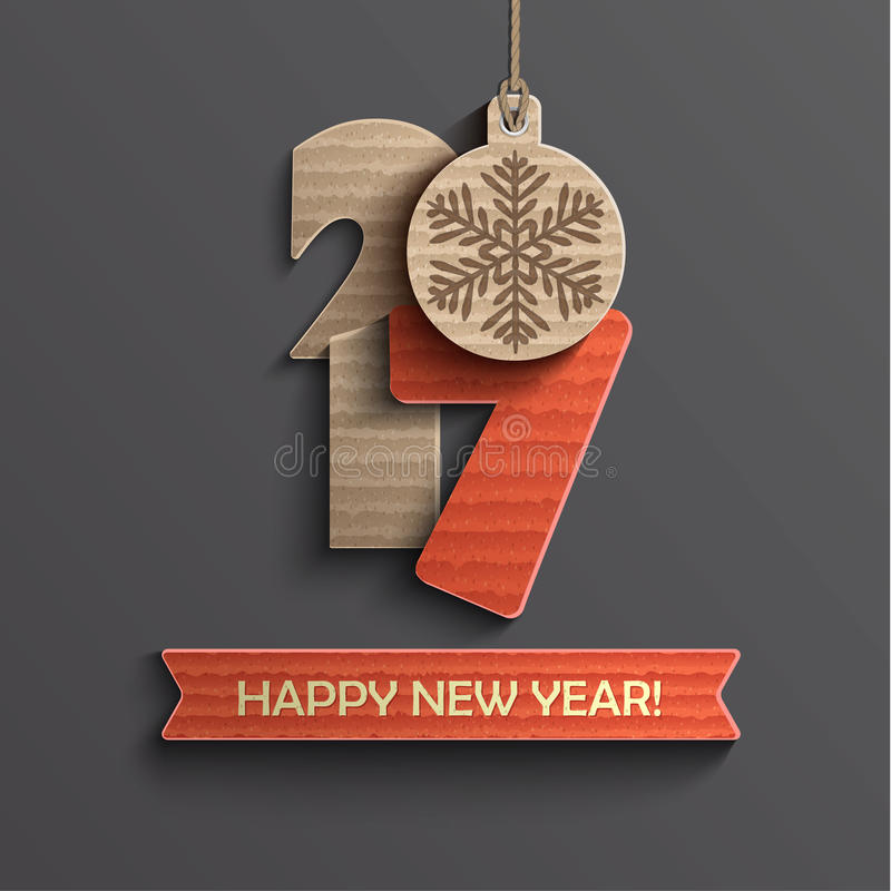 Diseño creativo de la Feliz Año Nuevo 2017 stock de ilustración