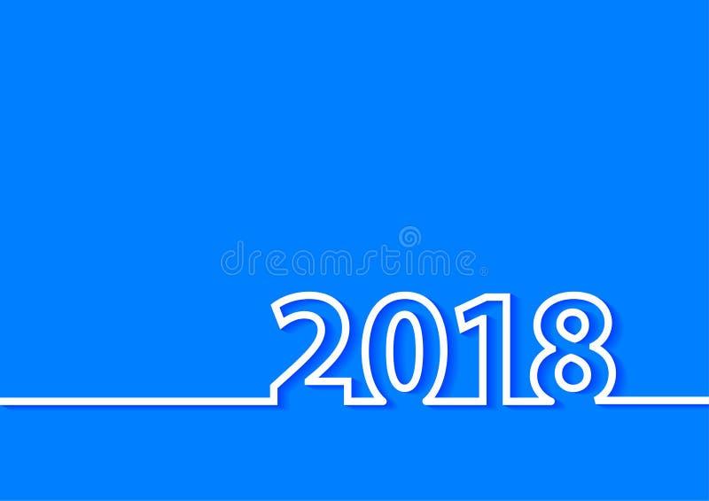Diseño creativo de la Feliz Año Nuevo del vector 2018 stock de ilustración