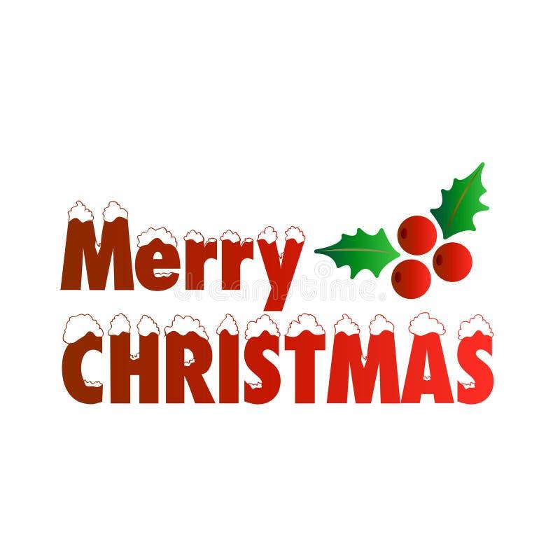 Diseño creativo de la Feliz Navidad con vector de la tipografía libre illustration