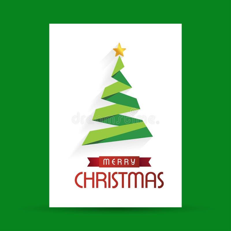 Diseño creativo de la Feliz Navidad con vector verde del fondo libre illustration