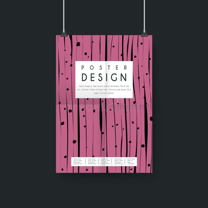 Diseño creativo de la plantilla del cartel ilustración del vector