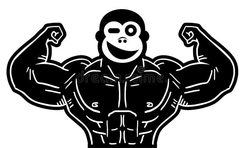 Mono fuerte stock de ilustración