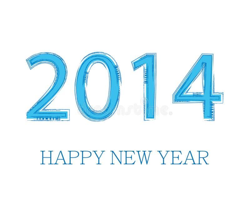 Diseño creativo del Año Nuevo 2014 ilustración del vector