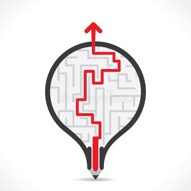 Diseño creativo del bulbo con el fondo de la trayectoria del hallazgo stock de ilustración