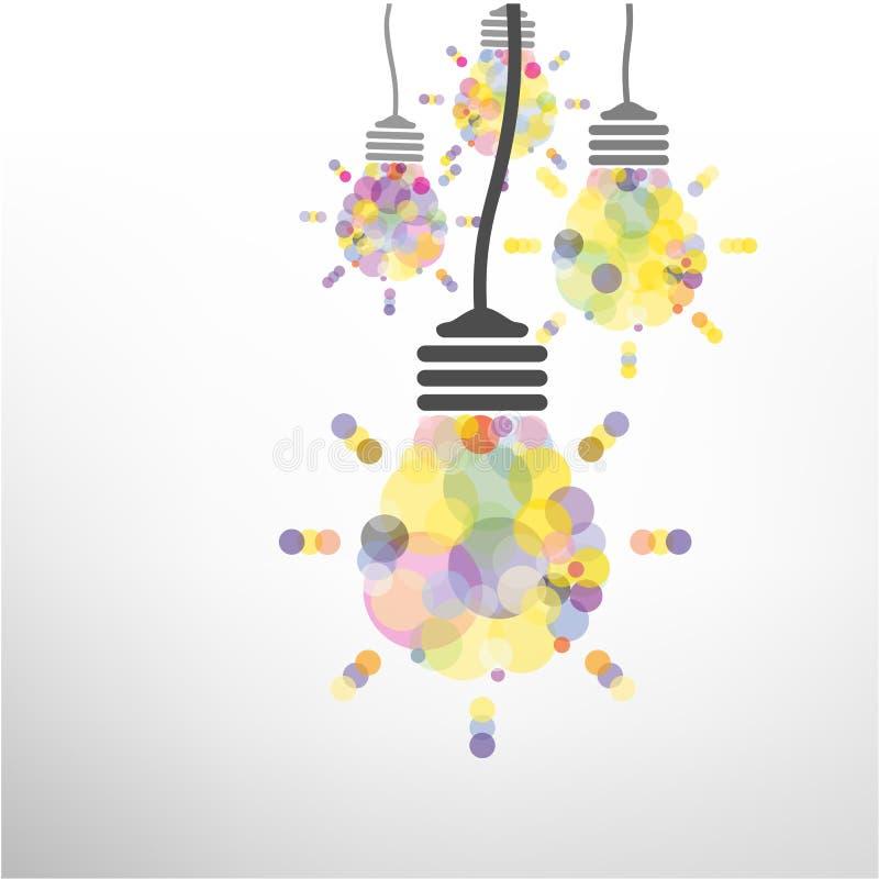Diseño creativo del fondo del concepto de la idea de la bombilla stock de ilustración