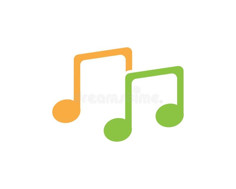 Diseño creativo del logotipo de la nota de la música libre illustration