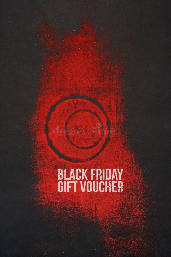 Diseño creativo del vale de regalo de la venta de Black Friday libre illustration