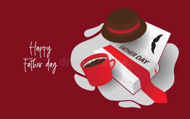 Diseño creativo para el día de padre feliz libre illustration