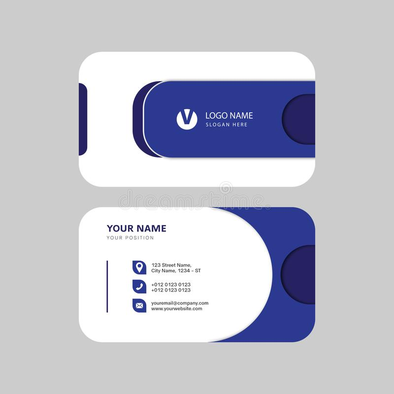 Diseño creativo profesional moderno simple de la tarjeta de visita stock de ilustración