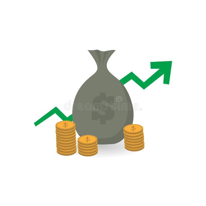Diseño crecido económico stock de ilustración