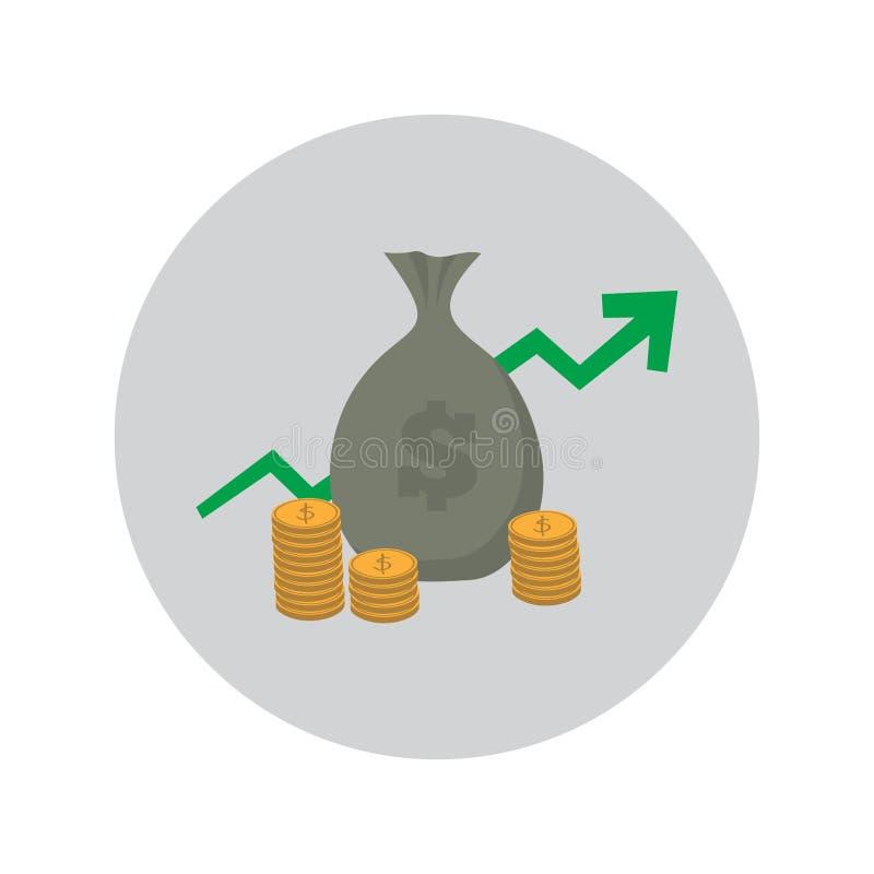 Diseño crecido económico libre illustration